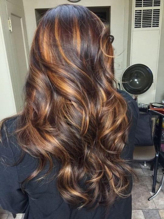 رنگ مو قهوه ای طلایی
